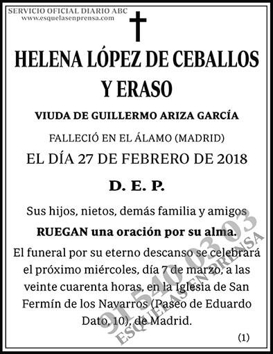 Helena López de Ceballos y Eraso